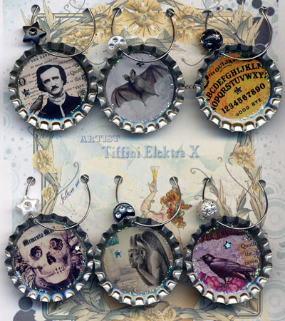 Gothic Macabre Drink Charms